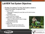 labview test system objectives