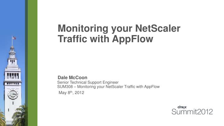monitoring your netscaler traffic with appflow n.