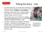 telling the story 19861
