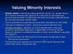 valuing minority interests