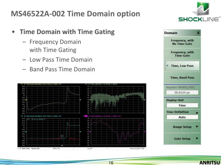 MS46522A-002 Time Domain option