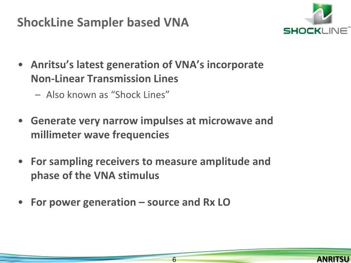 ShockLine Sampler based VNA