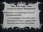 the marriage vow freely accepted obligations7