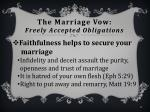 the marriage vow freely accepted obligations8