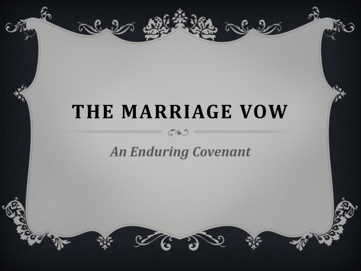 the marriage vow n.