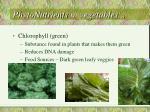 phytonutrients in vegetables
