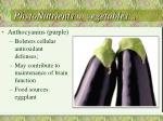 phytonutrients in vegetables1