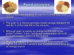 feed sources