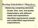 meeting stakeholders objectives