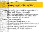 managing conflict at work1