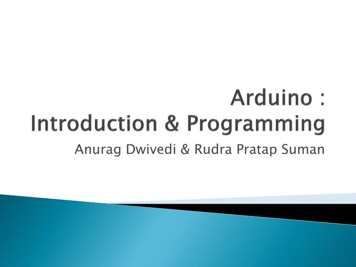 arduino introduction programming n.