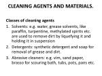 cleaning agents and materials