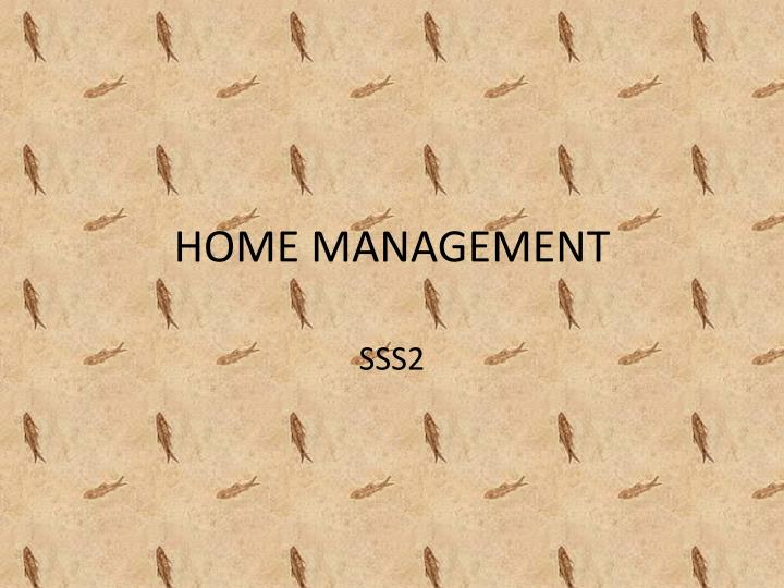 home management n.