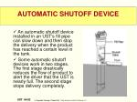 automatic shutoff device