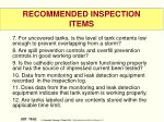 recommended inspection items1