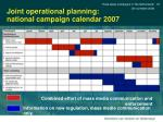 joint operational planning national campaign calendar 2007