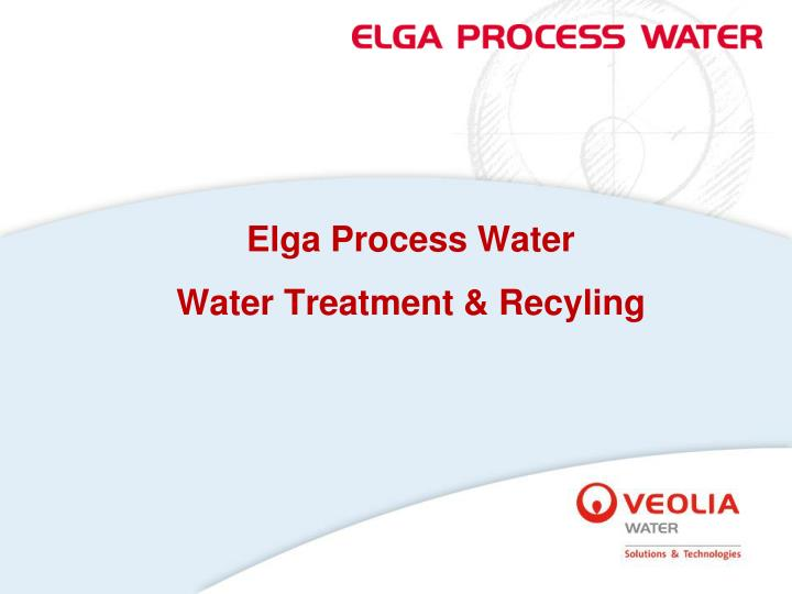 elga process water water treatment recyling n.