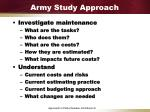 army study approach