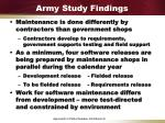 army study findings