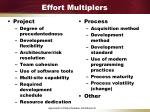 effort multiplers