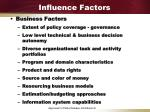influence factors