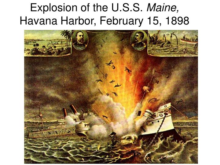 explosion of the u s s maine havana harbor february 15 1898 n.