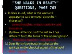 she walks in beauty questions page 7633