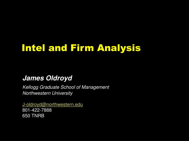 intel and firm analysis n.