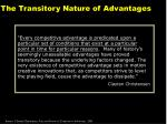 the transitory nature of advantages
