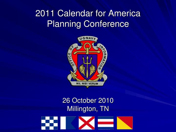 2011 calendar for america planning conference n.