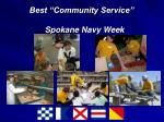 best community service spokane navy week