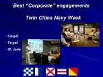 best corporate engagements twin cities navy week