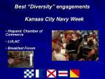 best diversity engagements kansas city navy week