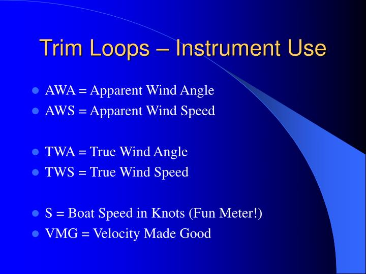 Trim Loops – Instrument Use