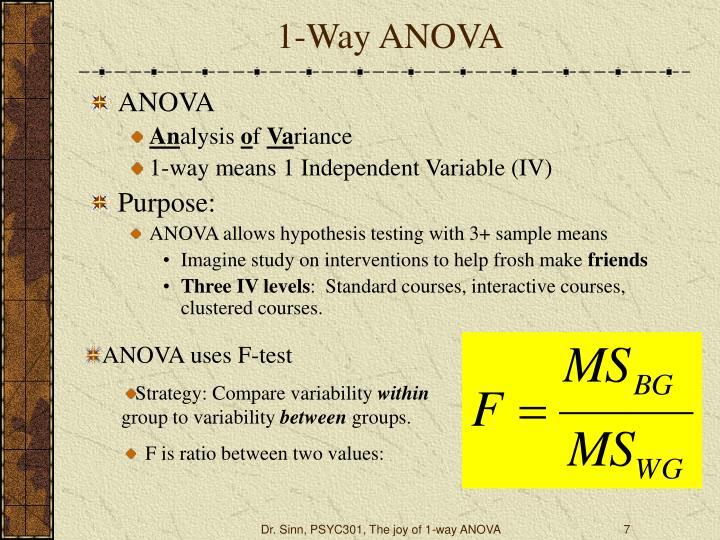1-Way ANOVA
