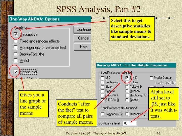 SPSS Analysis, Part #2