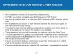 gp registrar st3 ooh training green sessions