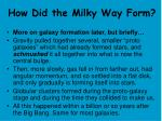 how did the milky way form
