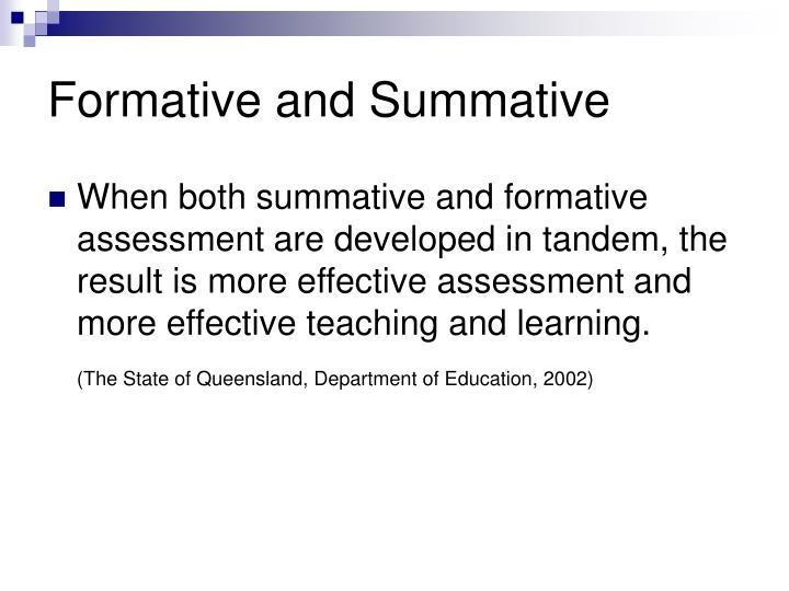 Formative and Summative