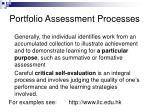 portfolio assessment processes