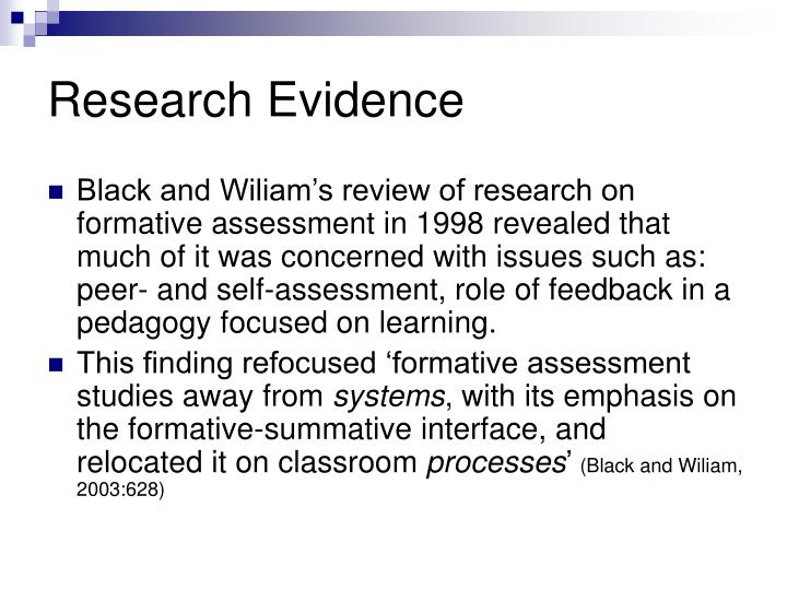 Research Evidence