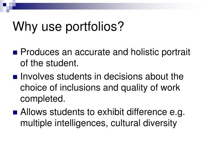 Why use portfolios?