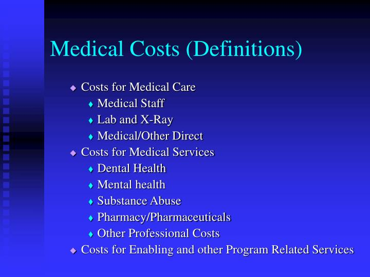 Medical Costs (Definitions)