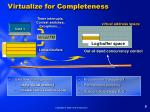virtualize for completeness