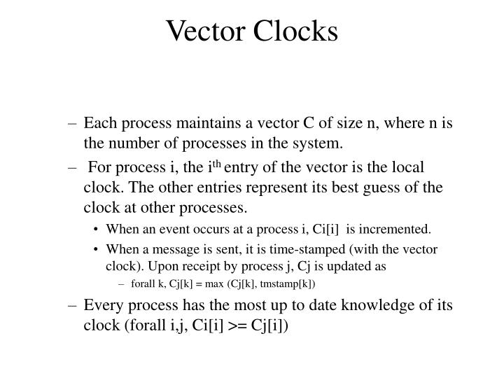 vector clocks n.