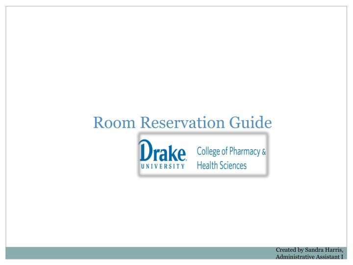 Room reservation guide