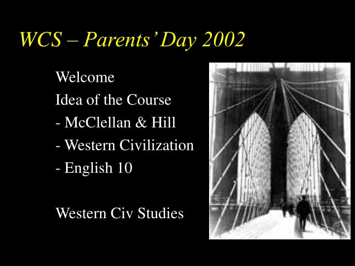 wcs parents day 2002 n.