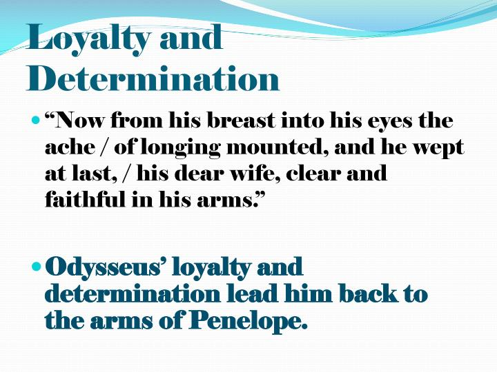 odysseus loyalty to penelope