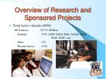 overview of research and sponsored projects