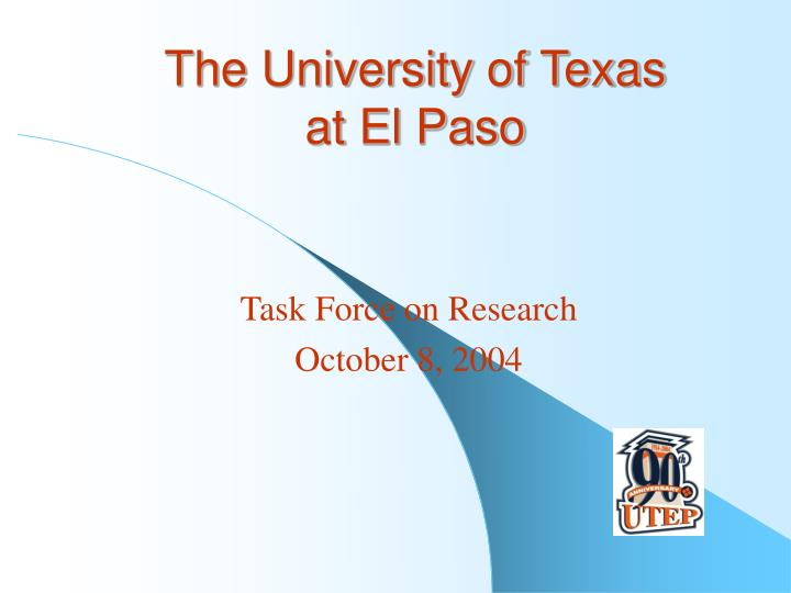 the university of texas at el paso n.
